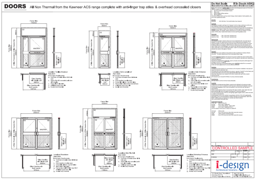 Architecture door schedule click image for larger for Schedule of doors and windows sample